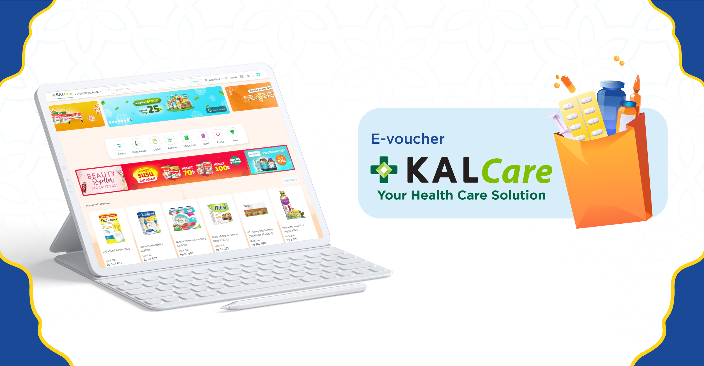 Kalcare evoucher to shop for health supplements
